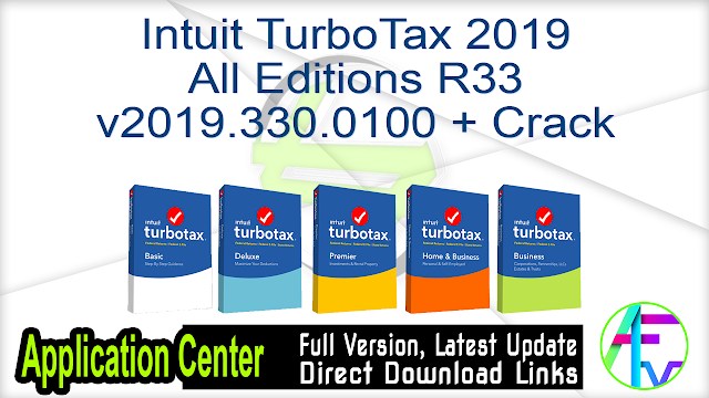 Intuit TurboTax 2019 All Editions R33 v2019.330.0100 + Crack