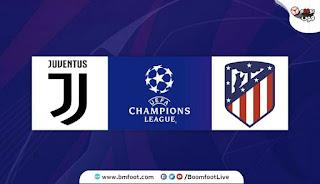 ملخص مباراة جوفنتوس ضد أتلتيكو مدريد مباشرة في دوري أبطال أوروبا