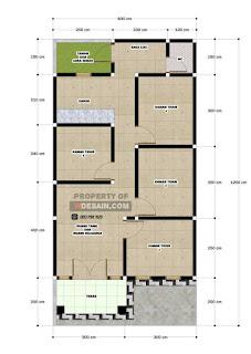 Denah Rumah 4 Kamar : denah, rumah, kamar, Desain, Rumah, Kamar, Tidur, Lantai, DESAIN, RUMAH, MINIMALIS