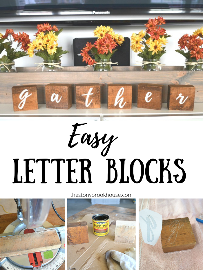 "DIY ""gather"" Letter Blocks"