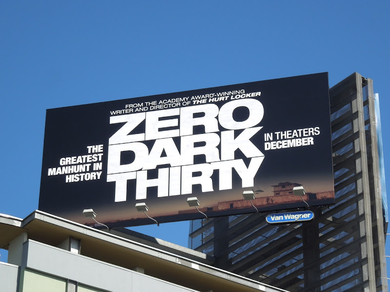 Zero Dark Thirty film billboard
