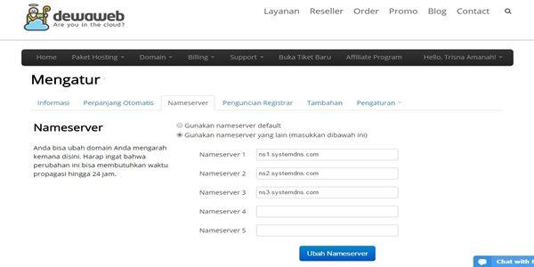 cara mengganti domain blogspot menjadi.com
