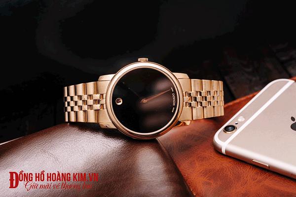 đồng hồ movado nam dây sắt đẹp