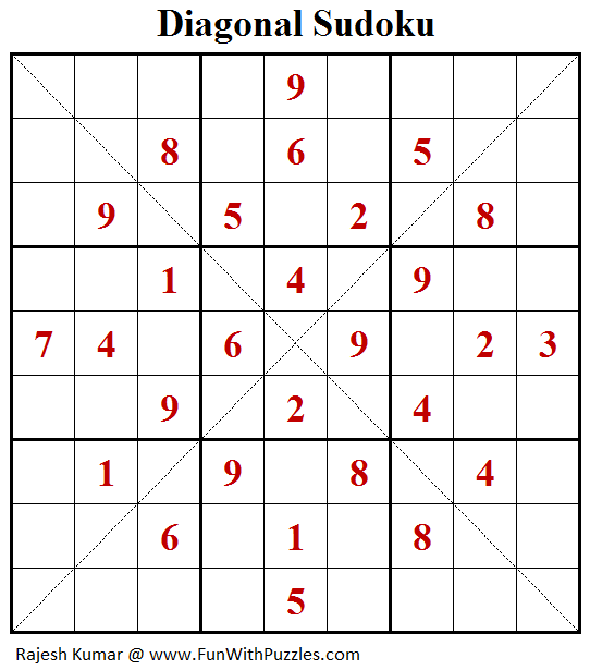 Diagonal Sudoku (Fun With Sudoku #209)