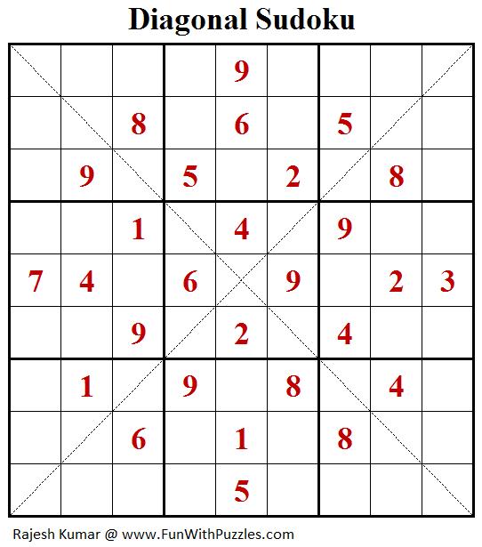 Diagonal Sudoku (Fun With Sudoku #209)