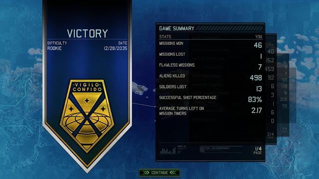 XCOM 2's victory screen stats