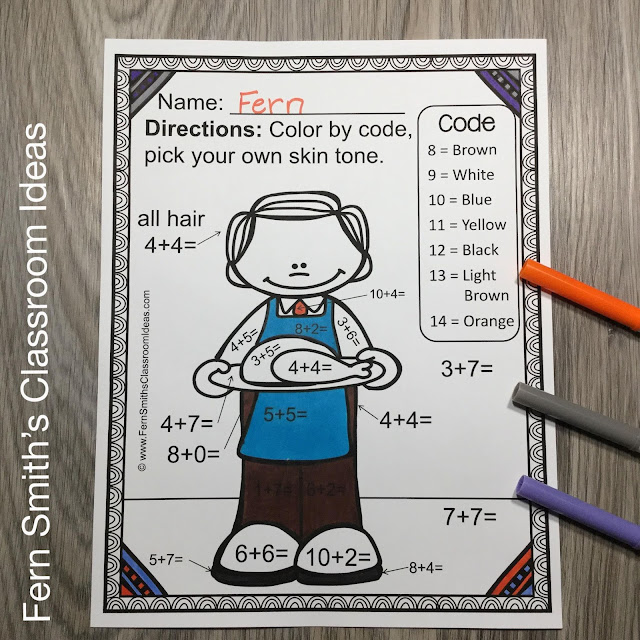 Getting your boys and girls to study their basic addition and basic subtraction facts can be tricky! But I have some Thanksgiving Color By Number Addition and Subtraction Worksheets for Thanksgiving that your students will love! Let them review important first grade and second grade math skills, but still brings the joy of coloring into your classroom today with this Bundle!