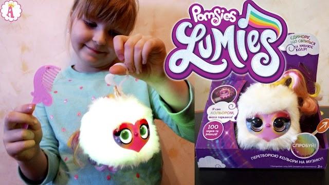 Интерактивный единорог Pomsies Lumies с цветомузыкой: распаковка игрушки для девочек
