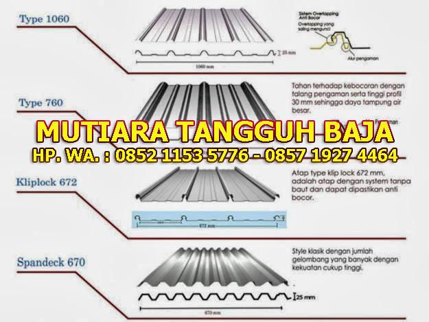 Distributor Atap Spandek Per Lembar