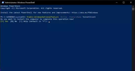 Cara Instal Telnet Client di Windows 11-5