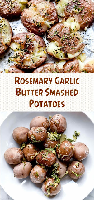 Rosemary Garlic Butter Smashed Potatoes
