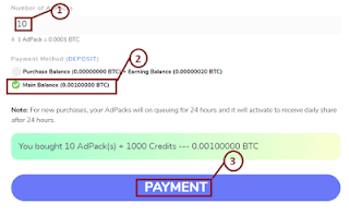 adbtcs make a Payment