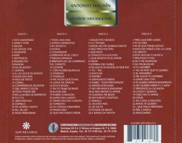 MIJAS: ANTONIO MACHIN - 100 AÑOS - 100 CANCIONES