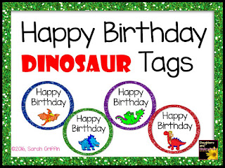 https://www.teacherspayteachers.com/Product/Happy-Birthday-Tags-Dinosaurs-2582190
