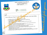 Administrasi Kelas Standar Pengelolaan Guru Kelas 1,2,3,4,5,6 SD | Unduh File Guru