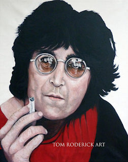 Shine On John Lennon by Boulder portrait artist Tom Roderick