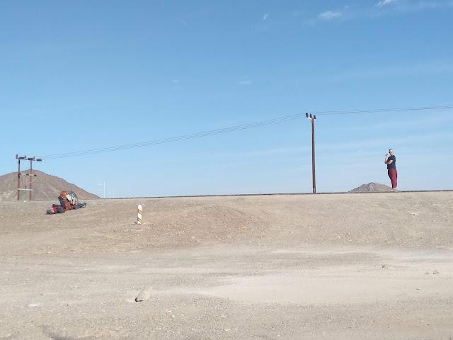 autostop, Oman, pustynia