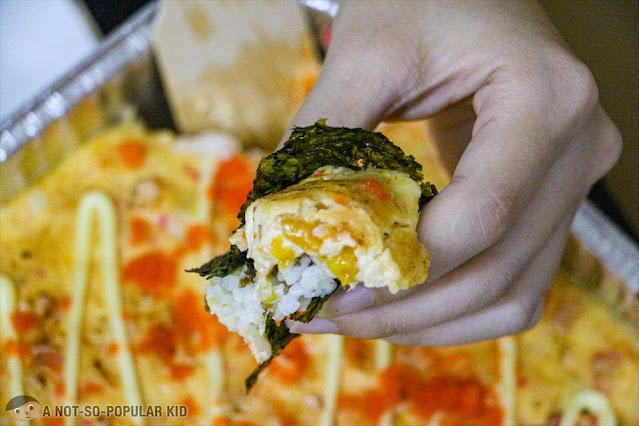 All Wrapped-Up Salmon Baked Sushi - NAMA
