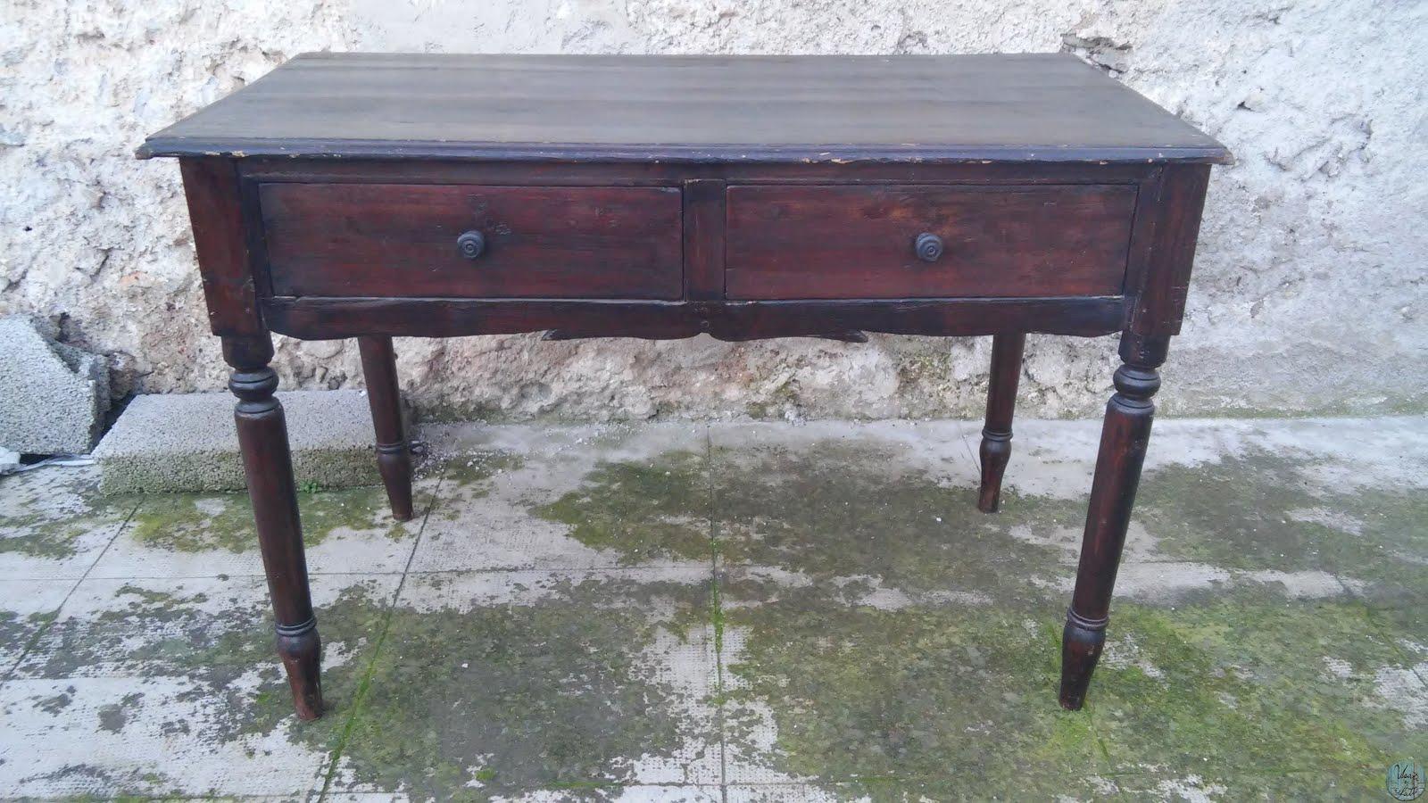 Restaurare Tavolo Legno Rovinato da vecchia scrivania a nuovo tavolo vintage | usati e rifatti