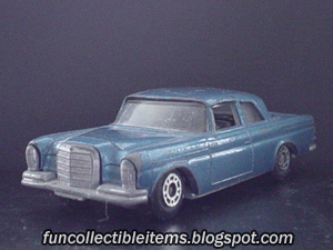 Blue Mercedes 300 SE toy car vehicle
