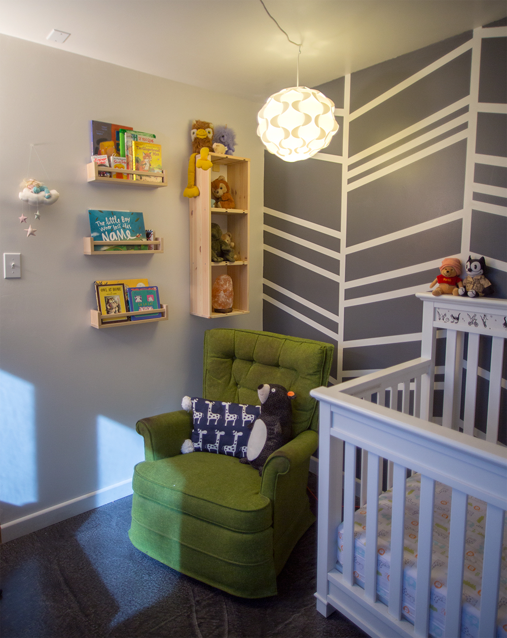 Nursery Before and After - littleladylittlecity.com