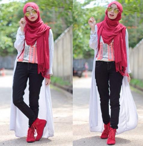 29+ Gaya Berpakaian Wanita Pendek Berhijab, Paling Top!