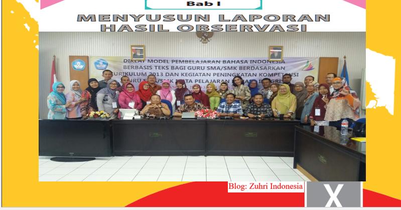 Teks Laporan Asil Observasi Pengamatan Bahasa Jawa Bene Ngerti