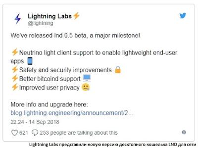 Lightning Labs представили новую версию десктопного кошелька LND для сети биткоина