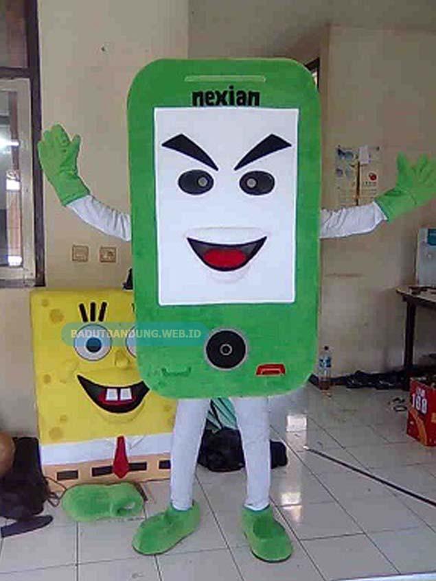 Desain badut android maskot nexian tombol Hitam