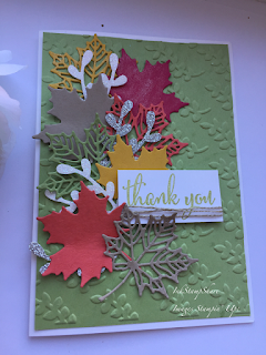 Colorful Seasons thank you card for the Inspire Create Stamping challenge #028