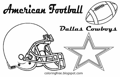 Dallas Cowboys NFC team printable American football logo coloring pictures for lads US sport games