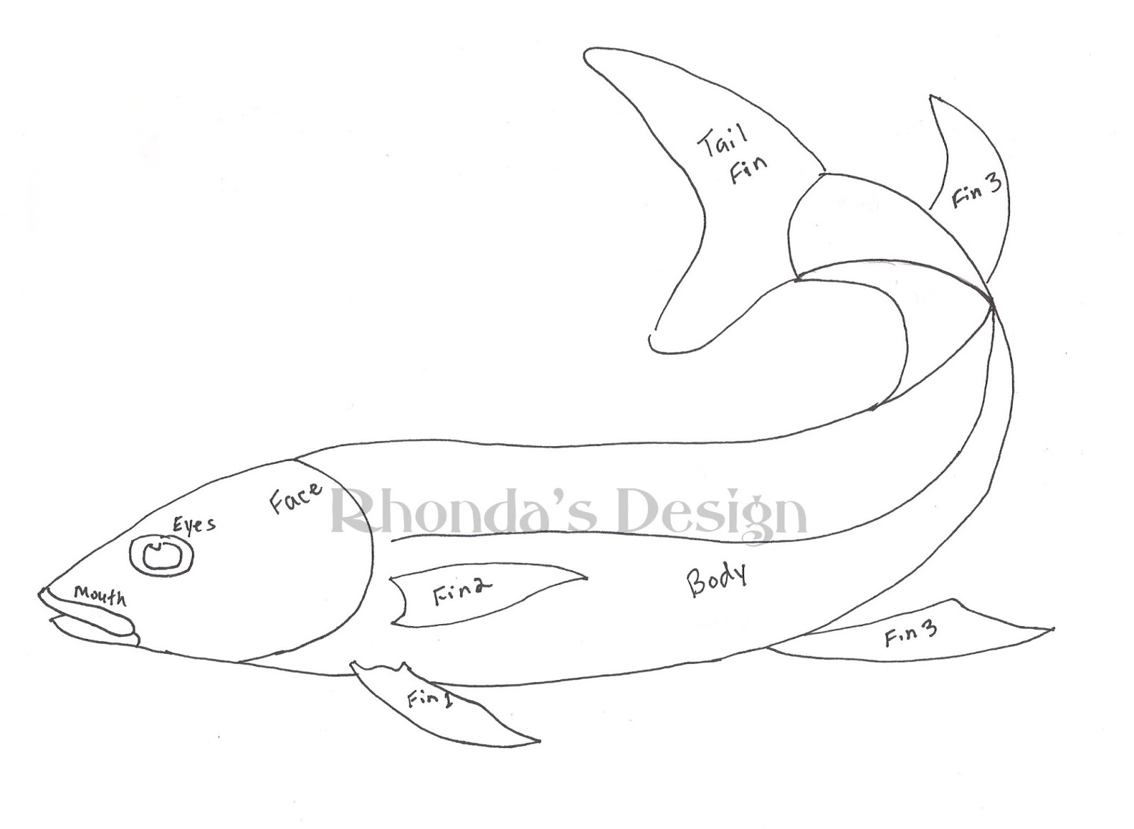 One fish two fish coloring page for One fish two fish coloring page