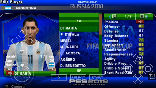 PES 2018 version 2018 World Cup for Android PSP - Micano4u | PES