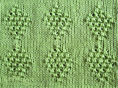 Ringlet Diamond stitch