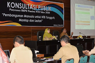 Wagub NTB Buka Forum Konsultasi RKPD 2020