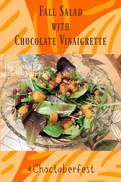 Fall Salad with Chocolate Vinaigrette