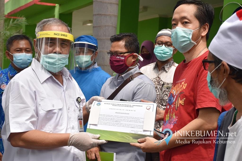 Kabar Baik, Empat Pasien Positif Covid-19 di Kebumen Dinyatakan Sembuh