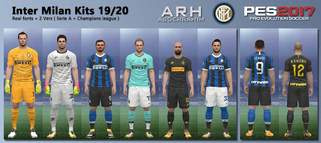 PES 2017 Internazionale Milano Kits 19/20 by ARH