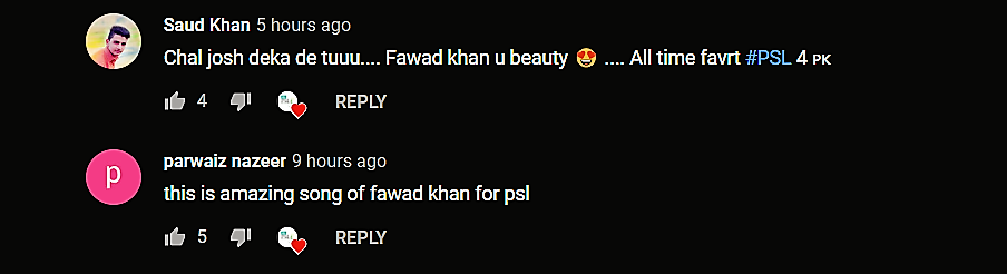 Twitter and YouTube Reacts on the PSL 4 Anthem Sung By Fawad Khan