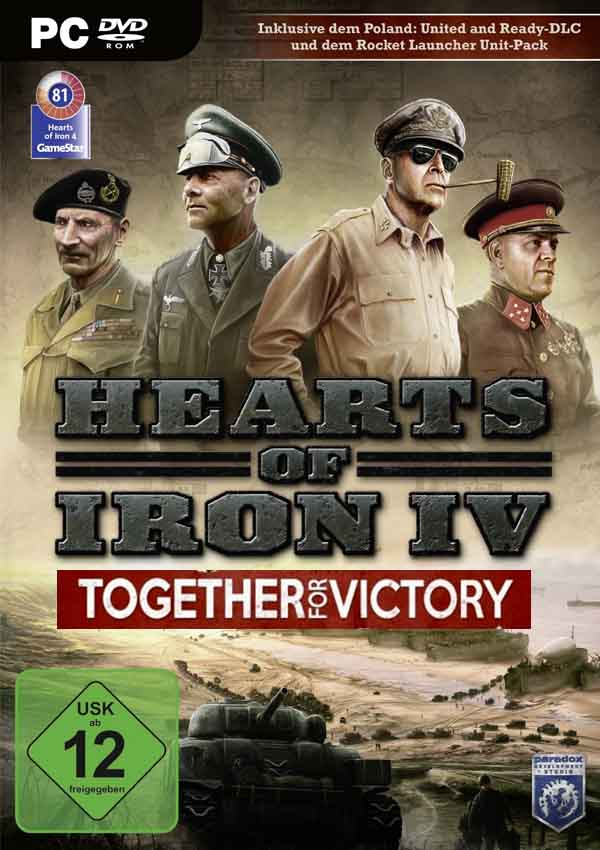 Hearts of Iron IV Together For Victory Download Cover Free Game