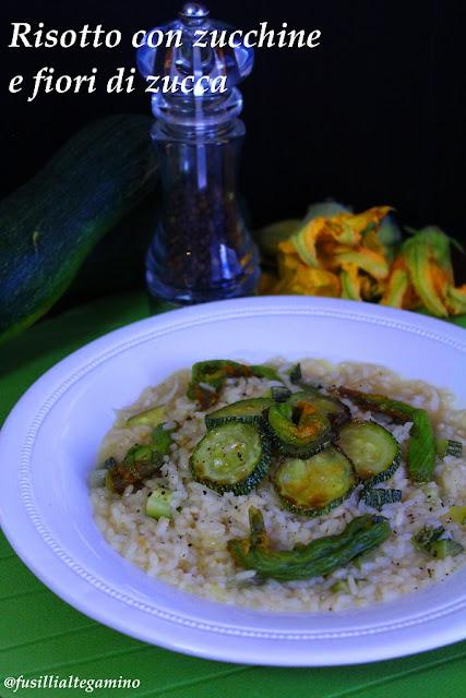 risotto con zucchini