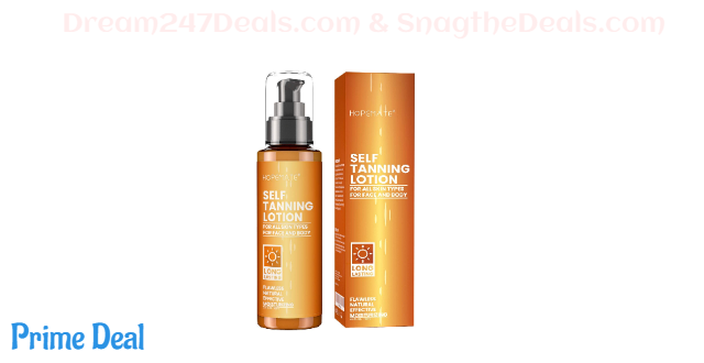 75% OFF HOPEMATE H Self Tanner, Natural Tan Lotion, Gradual Sunless Tanning, 3.4 Fl Oz