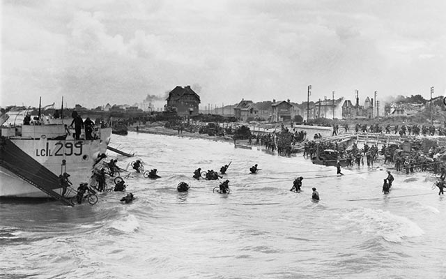 Landing Craft during the second wave of landings during D-Day during World War II worldwartwofilminspector.com