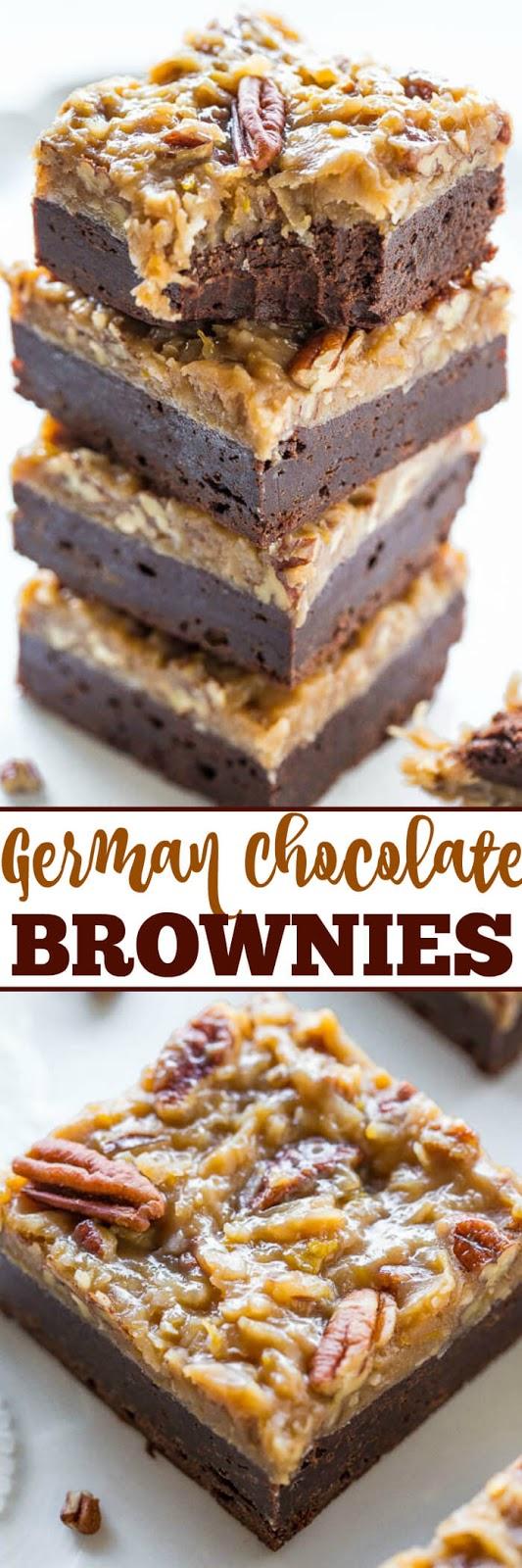 The Best German Chocolate Brownies