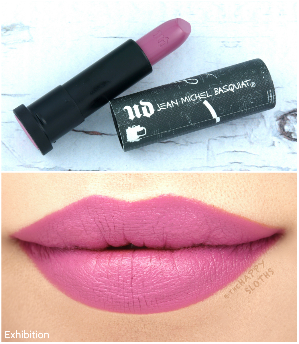 "Urban Decay x Basquiat Lipstick in ""Exhibition"": Review and Swatches"