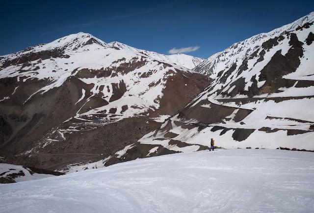 Marcel snowboarding in Dizin, Iran