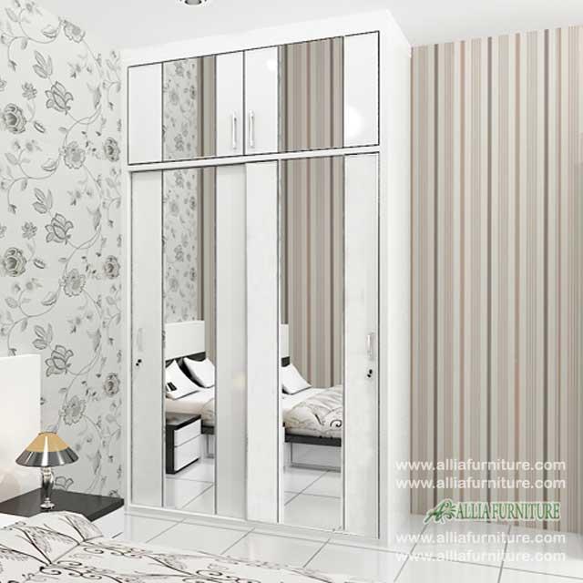 lemari baju minimalis 2 pintu unit model city