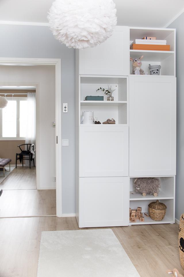 Lastenhuoneen sisustus, Villa H, lastenhuone, kaapisto, Ikea kaappi, vaatekaappi