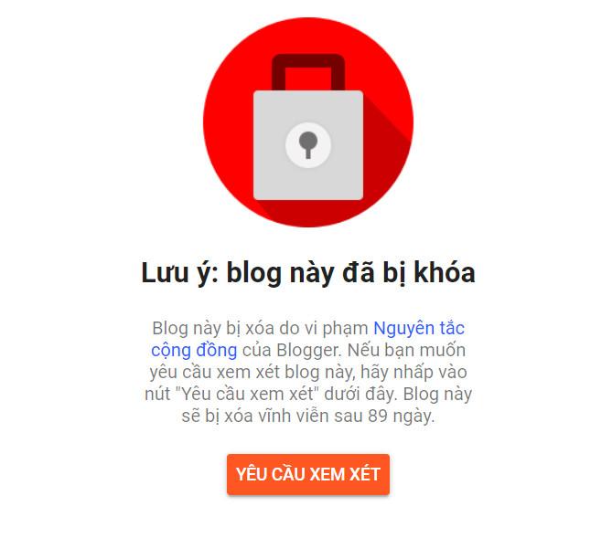 Tại sao Blogspot của bạn bị khóa?