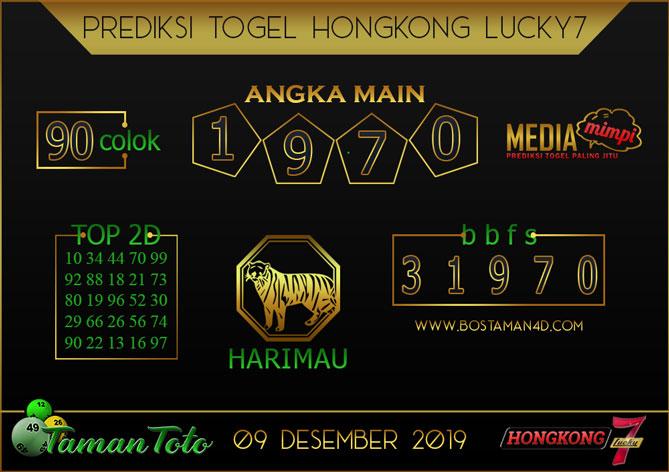 Prediksi Togel HONGKONG LUCKY 7 TAMAN TOTO 09 DESEMBER 2019